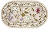 Brumlow Mills Butterfly Floral Area Rug for Kitchen, Dining, Living Room, Bedroom, Doorway Mat or Home Accent Carpet, 20' x 34', Opal