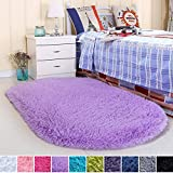 Noahas Ultra Soft Velvet Bedroom Rugs Kids Room Carpet Modern Shaggy Area Rugs Home Decor 2.6' X 5.3', Purple