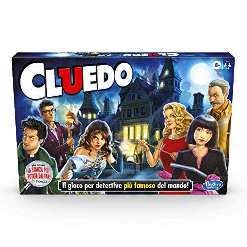 Hasbro Gaming Cluedo (gioco in scatola, Hasbro Gaming, versione 2020 in Italiano)