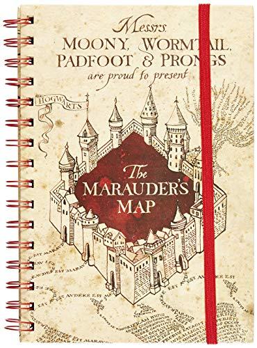 Harry Potter - Cuaderno A5 Espiral The Marauders Map