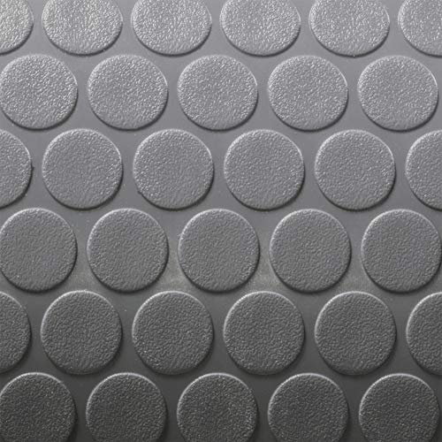 RecPro Trailer Coin Flooring | Gray | 8' 6' Wide | Nickel Pattern...