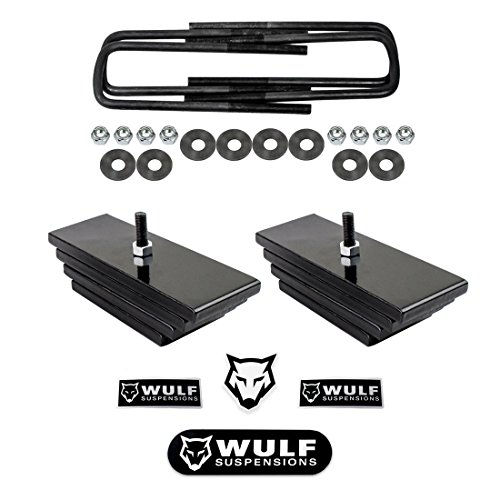 WULF 2.8' Front Adj Lift Leveling Kit for 1999-2004 Ford F250 F350 Super Duty 4WD (Mini Leaf Spring Pack)