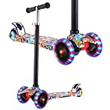Hikole Scooter for Kids, Kick Scooter for Toddlers Girls & Boys with LED Light Up Scooters Wheels,...