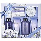 Coffret Cadeau de Bain & Douche Bio pour Femme, Body&Earth 6 Pcs Coffret Bain au...