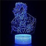 Bande dessinée Batman Joker The Dark Knight 3D Illusion d'optique Lampe Tactile Avec...
