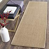 Safavieh Natural Fiber Collection NF141B Tiger Paw Weave Maize and Linen Sisal Area Rug (2'6' x 4')
