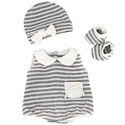 """ZWOOS Ropa de Muñecas para New Born Baby Doll, Lindo Atuendo con Sombrero y Calcetines para 18 """" Muñecas (40-45 cm)"""