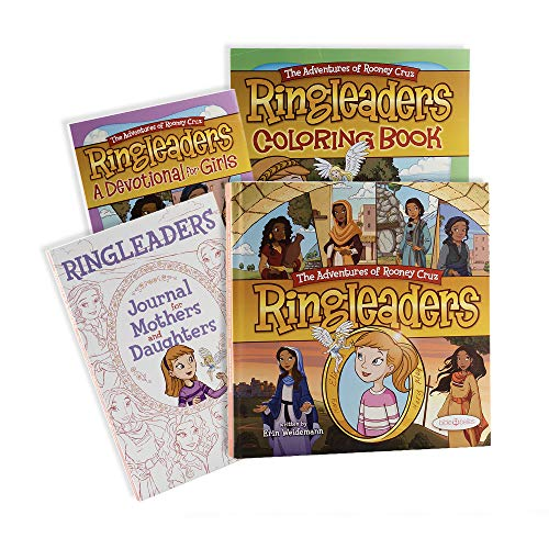 Bible Belles Ringleaders, Adventures of Rooney Cruz Books, Bible Story Books for Children, Christian Gifts for Girls Age 4-10, Box Book Set for Kids (Story Book, Coloring Book, Journal, Devotional)