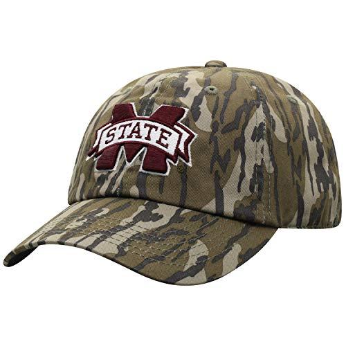 Mossy Oak Mississippi State Bulldogs Men's Mossy Oak Bottomland Original Camo College Crew Adjustable Hat, Adjustable (Sports)