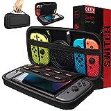Orzly Custodia da Viaggio Nintendo Switch - Guscio Protettivo Portatile per Console e Accessori del Nintendo Switch - Nero