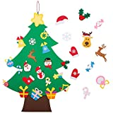 Felt Christmas Tree - 3.6 FT 3D DIY Set for Kids with 33 Pieces of Ornament Decor, Wall Hanging Christmas Tree Decorations