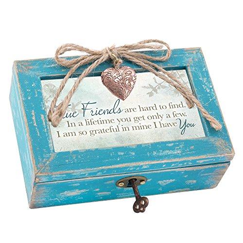 Cottage Garden True Friends Grateful Teal Wood Locket...