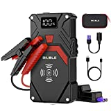 BIUBLE Car Jump Starter, 2500A Peak 24000mAh (Up to All Gas or 8.0L Diesel Engine, 50 Times) 12V Auto Booster Battery Pack Jump Box with 10W Wireless Charger Smart Jump Cables