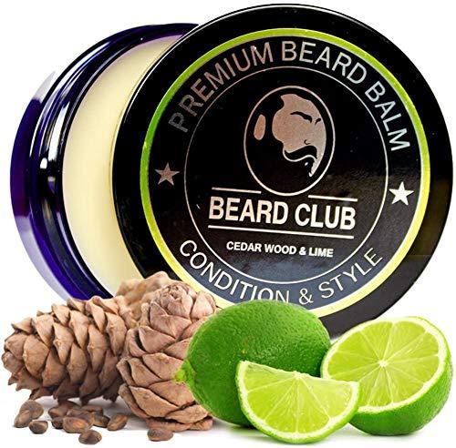 Balsamo per barba premium | Legno di Cedro & Lime | Beard Club | Il miglior balsamo e emolliente per barba | 100% Naturale & Organico | Ottimo per la cura dei capelli e la crescita