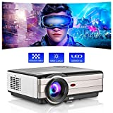 Outdoor Movie Projector,LED LCD Video Projector Support Zoom 200 Inch Display 4200 Lumen for Gaming...