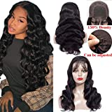 Healthair 9A Lace Front Wigs Human Hair 12inch Brazilian Remy Human Hair Lace Front Wigs For Black Women 4X4 Body Wave Lace Closure Wigs Human Hair Wigs with Baby Hair 150% Density(12' Wig)
