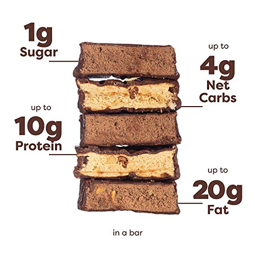 Kiss My Keto Bars - Low Carb (3g Net), Low Sugar Keto Snack Bars | Chocolate Variety Pack, 12 Pack | Rich in Ketogenic Fats & Protein 4