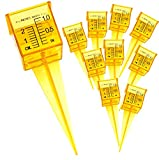 Ten Pack 1.5' Rain Gauge/Sprinkler Gauge, Wide Mouth, Bright Yellow Outdoor Water Measuring Tool 10 Piece