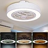 Ventilateur de plafond avec lumières et télécommande, plafonnier...