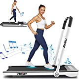 Treadmills for Home,Under Desk Folding Treadmill,2-in-1 Running,Walking & Jogging Portable Running Machine with Bluetooth Speaker & Remote Control,5 Modes & 12 Programs,No Assembly Required