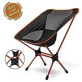アウトドアチェア Leader Accessories コンパクトチェア キャンプ 椅子 折りたたみ椅子 ハイキング お釣り 登山 ピクニック(orange)