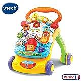 VTech - Super Trotteur Parlant 2 en 1 Orange – Trotteur interactif pour...
