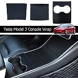 Model 3 Center Console Wrap ABS Matte Carbon Fiber Console Cover Interior Decoration Wrap Kit for Model 3 Accessories