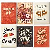 Hallmark Studio Ink Friendsgiving or Thanksgiving Card Assortment (6 Cards with Envelopes)