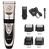 BaoRun Pet Dog Grooming Clippers Professional Rechargeable Cordless Hair Clippers with Comb Low Noise for Small Medium Large Dogs Cats