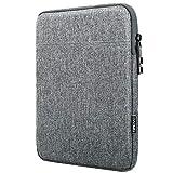 TiMOVO Funda para iPad Pro 12.9 2020, MacBook Air 13 Inch, MacBook Pro 13', Galaxy Tab S7+, Surface Pro X/7/6/5/4/3, Bolsa de 13 Inch Tablet Poliéster con Doble Bolsillo, Gris Claro