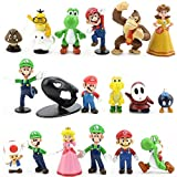 LoneFox Lot de 18 poupées PVC Jouets Figurines Super Mario