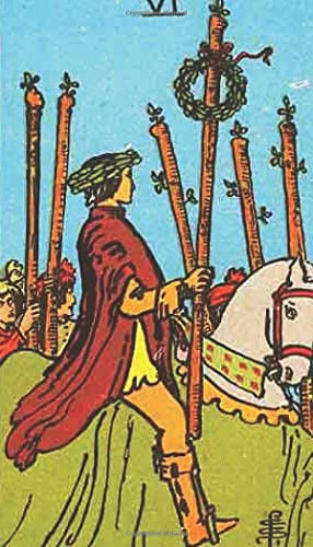 Six of Wands: A Rider-Waite Tarot Card Meditation Journal...