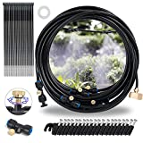 Hourleey Misting Cooling System, Outdoor Mister System with 26 Feet Misting Tube, 9 Brass Mist...