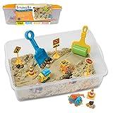Creativity for Kids Sensory Bin: Construction Zone Playset - Sandbox Truck Toys for Kids (Toy)