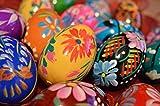 Wooden World Juego de Huevos de Pascua de Madera Pintados a Mano – decoración...