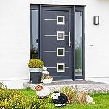 Relaxdays Gartenfigur Schaf, Tierfigur, frostsicher, wetterfest, handbemalte Gartendeko, innen & außen, Keramik, schwarz - 5