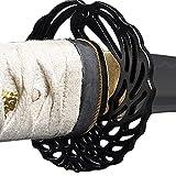Handmade Sword - Samurai Katana Sword, Practical, Hand Forged, 1045 Carbon Steel, Heat Tempered/Clay Tempered, Full Tang, Sharp, Scabbard (Crane952)