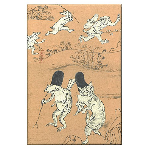 芸艸堂 御朱印帳 鳥獣戯画 猫 N023