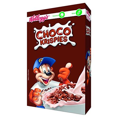 Kellogg's Choco Krispies - Cereales de arroz inflado con cacao, rico en vitaminas y hierro, Paquete 375 g
