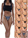 Sexy Basics Womens Buttery Soft String Bikini Briefs -Pack of 12 (12 Pack - Tribal Prints & Solids, Large)