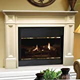 Pearl Mantels 140-56 Classique Fireplace Mantel, 56-Inch, Unfinished