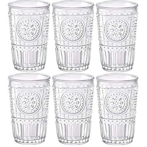 Bormioli Rocco Romantic Juego de 6 Vasos 30,5 cl, Cristal Tr