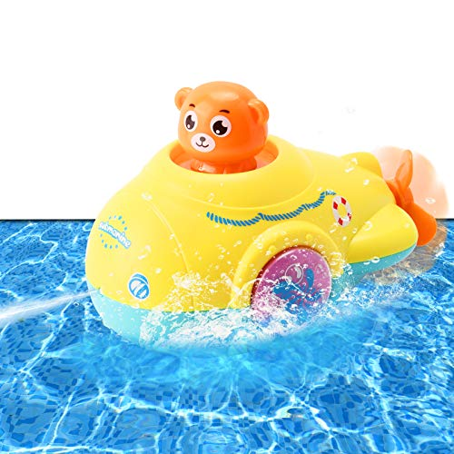Tokey Life Bath Toy Water Jet Submarine Toy Wind Up Squirts...