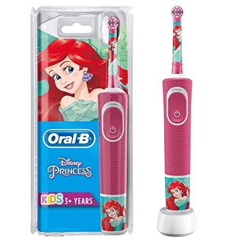 Oral-B Kids Spazzolino Elettrico Ricaricabile, 1 Manico con Personaggi Disney Principesse, per Età da 3 Anni, Modelli assortiti, 1 pezzo