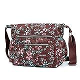 Crossbody Bags for Women Multi Pocket Shoulder Bag,Waterproof Nylon Travel Purses and Handbags...