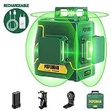 Niveau Laser Vert 3x360° POPOMAN,3D Professionnel Laser Croix 45m,...