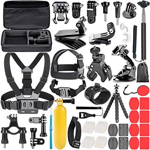Neewer 58-in-1 Accessori Kit per GoPro Hero Session/5 Hero 1 2 3 3+ 4 5 9 SJ4000 5000 6000 DBPOWER AKASO VicTsing APEMAN WiMiUS Rollei QUMOX Lightdow Campark e Sony Sport Dv