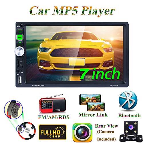 Honboom Autoradio Bluetooth 2 DIN Car Stereo con 7 Pollici HD Touchscreen Supporto Chiamata Vivavoce Bluetooth/Specchio Link/FM/RDS/USB/TF Card/AUX (Telecamera Posteriore Inclusa)