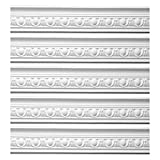 Renovator's Supply Ornate White Urethane Foam Emperial Cornice 5 Pieces Totaling 473.125' Length