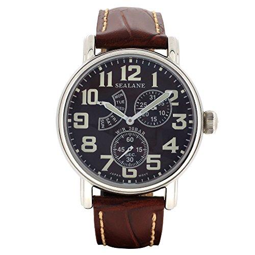 [シーレーン]SEALANE 腕時計 SE14 シリーズ (ブラウン) 牛本革ベルト ウォッチ SE14-BR 国内正規品 メンズ